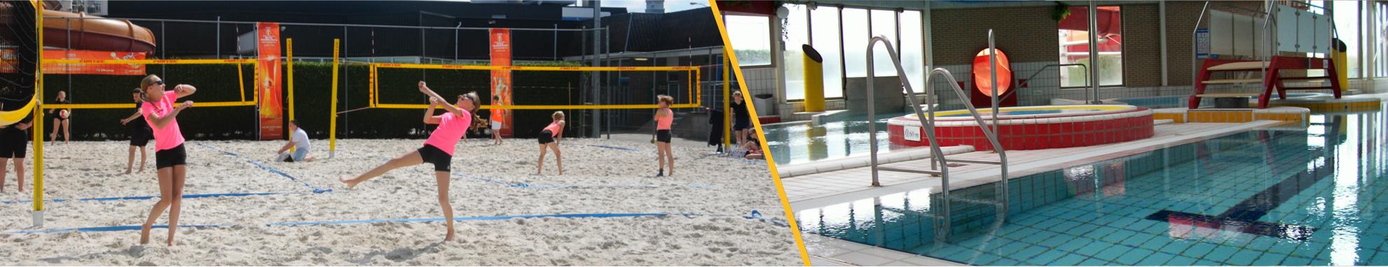 De Beemden: ook een beachcourt en zwembad